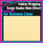 1M X 1520mm VEHICLE CAR VAN WRAP BEIGE SNAKE EFFECT FEATURES AIR RELEASE LINER